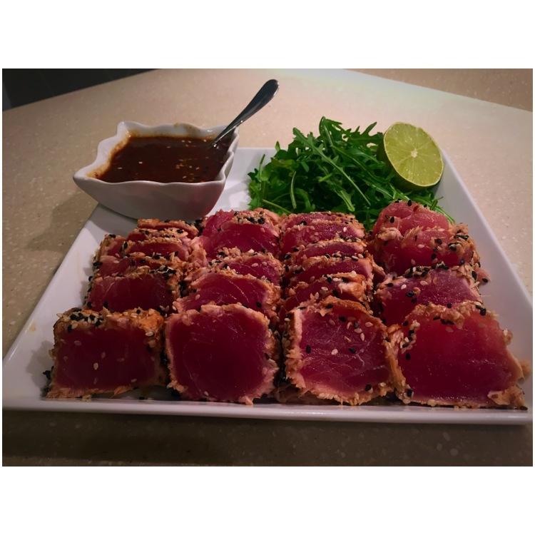 Tataki de Thon Rouge, sauce sucrée salée – liloucuisine on